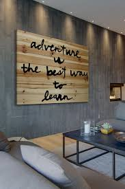 adventure is the best brown distressed wood wall art by marmont