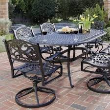Oval Wrought Iron Patio Table Wrought Iron Patio Furniture Design And Style With Long Lasting