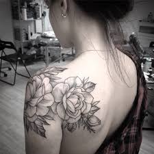 like the location of the rose on over the shouler tattoos and