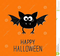 cute cartoon bat happy halloween card flat design stock vector