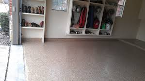 decoration light brown garage floor coating epoxy with wood shoe