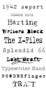 free old typewriter font from www fuzzimo com free old typewriter