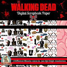 walking dead wrapping paper walking dead printable digital paper scrapbook paper gift
