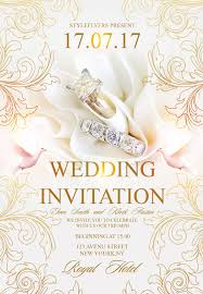 wedding invitations free free wedding flyer psd templates for photoshop
