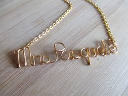 gold necklace with name in cursive mrs necklace custom name necklace personalized gift