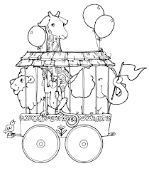 Circus Coloring Pages Animals Coloringstar Circus Coloring Page