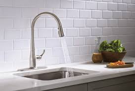 kohler kitchen faucet installation kitchen kohler kitchen faucets design with subway tile backsplash