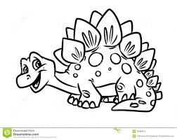 dinosaur stegosaurus coloring pages stock photo