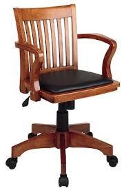 wooden rolling desk chair attractive wood desk chair regarding cooper mid century leather