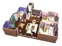 3d apartment friends tv show apartment in 3d homebyme