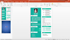 powerpoint resume template free single slide resume template for