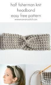 knit headband half fisherman knit headband downton yarn in a stitch