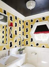 Wallpaper For Bathrooms Ideas Colors Bold Decorating Ideas For Small Bathrooms