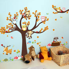 online get cheap owl tree wall decal aliexpress alibaba group large flower tree owls monkey animals pvc wall stickers kids room bedroom home decorations