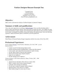 Best Resume Examples For 2017 by Fashion Design Cover Letter The Best Resume Samples