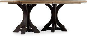 hooker furniture dining room corsica dark rectangle pedestal