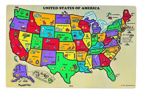 wooden usa map puzzle with states and capitals puzzibilities l4 united states of america map toys