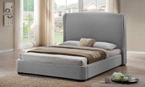 linen platform wingback bed groupon goods