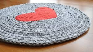 Crochet Tshirt Rug Pattern T Shirt Rug T Shirt Rug 8 Crocheted Coiled Tshirt Rug By On Etsy