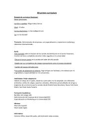 Resume Espanol Fashionable Design Ideas Modelos De Resume 11 Ejemplo Estudiante