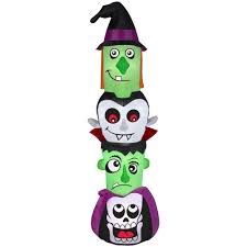gemmy 7 ft inflatable halloween totem pole 73792 the home depot