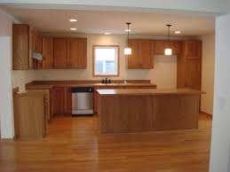 Difference Between Laminate And Hardwood Floors Mesmerizing Oak Wooden Unvarnished Kitchen Cabinet And Rectangular
