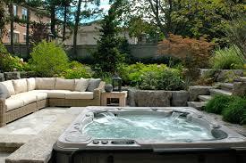 Cozy Backyard Ideas Outdoor Nice Backyard Ideas With Hot Tub Design 5 Awesome