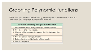 3 7 investigating graphs of polynomial functions ppt video