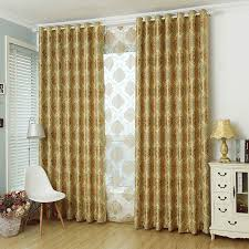 gold damask jacquard polyester luxury curtains and drapes