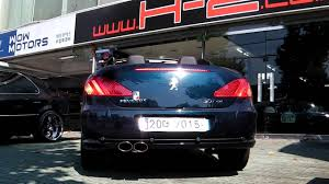 peugeot 307cc 7ism exhaust system youtube