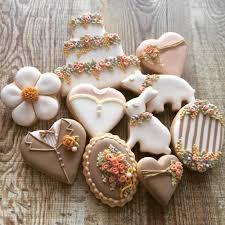 garden wedding cookies cookie connection