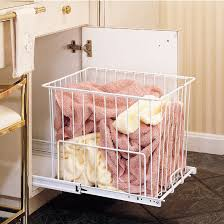 Pull Out Laundry Cabinet Rev A Shelf Pull Out Wire Hampers For Laundry Or Vanity
