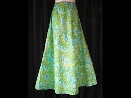 pattern for simple long skirt how to sew a simple skirt youtube