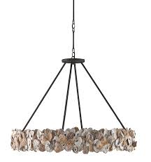 Iron Ring Chandelier Oyster Shell And Iron Ring Chandelier The Designer Insider