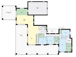plan maison plain pied en l 4 chambres plan maison contemporaine plain pied 4 chambres immobilier pour