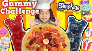 giant gummy pizza gummy bear challenge giant gummy snake