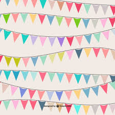 colorful garland pattern vector free vector in ai