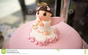 baby christening fondant cake stock photo image 70917731
