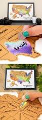 Usa Carry Maps by United States Watercolor Scratch Map Bright Colours Coins And