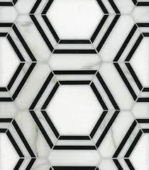 black and white hexagon bathroom floor tile ideas and pictures