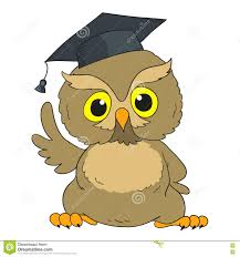 graduation owl smart owl character graduation owl illustration 71458698