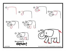 how to draw a simple elephant simple elephant outline clipartsco