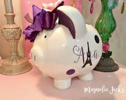 Keepsake Piggy Bank Glitter Piggy Bank Etsy