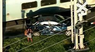 crash between tri rail train car causing delays on busy hollywood