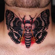 skull butterfly on nech best ideas gallery