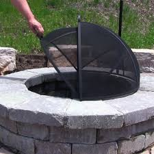 Fire Pit Ring With Grill by Sunnydaze Easy Access Fire Pit Spark Screen