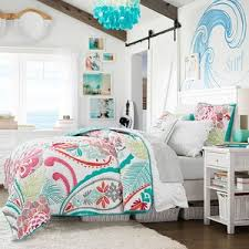Pb Teen Duvet Pb Teen Ocean Bloom Wholecloth Quilt Twin Multi At Pottery
