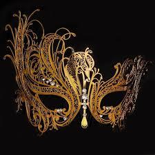 black and gold mardi gras metal black gold silver phantom swan rhinestone venetian