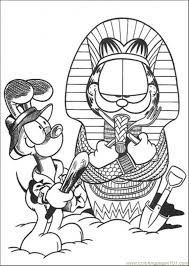 egypt coloring free garfield coloring pages