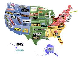 Usa License Plate Map by This Map Shows Famous Movies U0026 Tv Shows Set In Each U S State